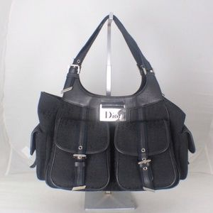 DIOR DIORISSIMO #17447 Black Hobo Bag